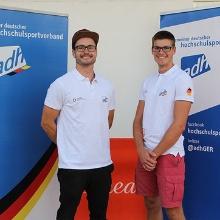 Moritz Korthals und Simon Kramm haben bei den EUC Rudern 2019 in Schweden im Zweier ohne Steuermann Gold geholt. Moritz Korthals und Simon Kramm haben bei den EUC Rudern 2019 in Schweden im Zweier ohne Steuermann Gold geholt.